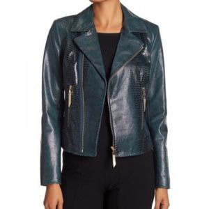 Elie Tahari MAE Leather Jacket
